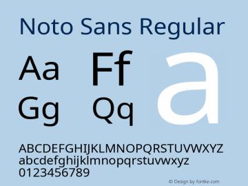 Noto Sans Regular Version 2.001; ttfautohint (v1.8.2)图片样张