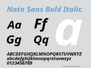 Noto Sans Bold Italic Version 2.001; ttfautohint (v1.8.2)图片样张