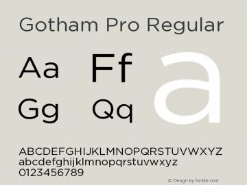 GothamPro Version 1.001图片样张