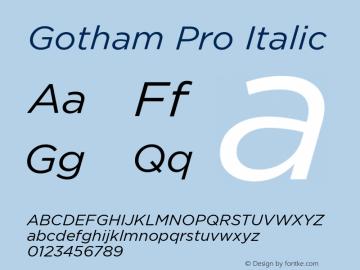 GothamPro-Italic Version 1.001图片样张
