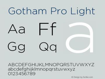 GothamPro-Light Version 1.001图片样张