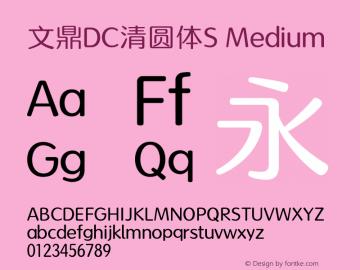 文鼎DC清圆体S_M Version 1.01 -