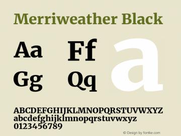 Merriweather Black Version 2.006; ttfautohint (v1.8.2) -l 8 -r 50 -G 200 -x 14 -D latn -f none -a qsq -X