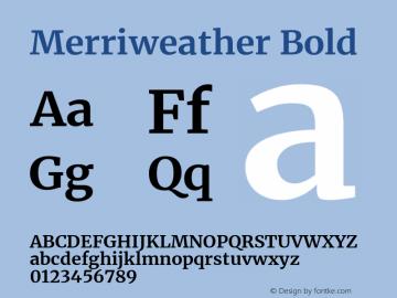 Merriweather Bold Version 2.006; ttfautohint (v1.8.2) -l 8 -r 50 -G 200 -x 14 -D latn -f none -a qsq -X