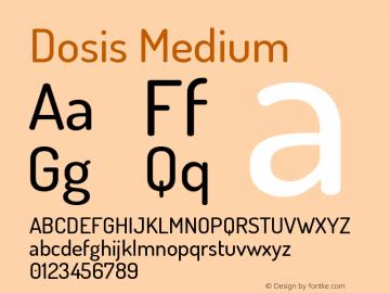 Dosis Medium Version 3.000图片样张