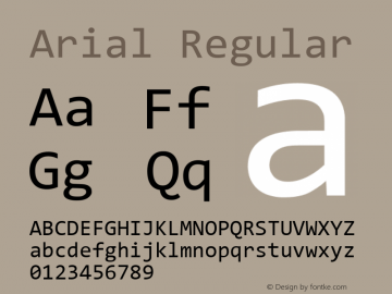 Arial Version 9.0 ; ttfautohint (v1.8.3) -l 2 -r 96 -G 96 -x 96 -H 152 -D latn -f none -m