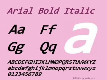 Arial Bold Italic Version 9.0 ; ttfautohint (v1.8.3) -l 2 -r 96 -G 96 -x 96 -H 203 -D latn -f none -m