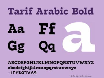 TarifArabic-Bold Version 1.000;hotconv 1.0.109;makeotfexe 2.5.65596;YWFTv17图片样张