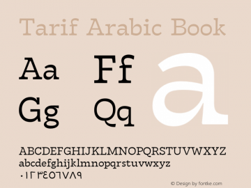 TarifArabic-Book Version 1.000;hotconv 1.0.109;makeotfexe 2.5.65596;YWFTv17图片样张