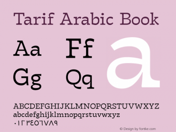Tarif Arabic Book Version 1.000;hotconv 1.0.109;makeotfexe 2.5.65596;YWFTv17图片样张