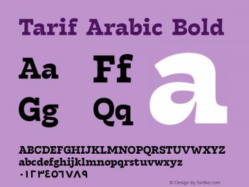 Tarif Arabic Bold Version 1.000;hotconv 1.0.109;makeotfexe 2.5.65596;YWFTv17图片样张