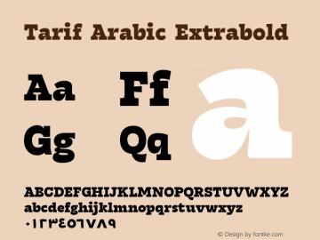 TarifArabic-Extrabold Version 1.000;hotconv 1.0.109;makeotfexe 2.5.65596;YWFTv17图片样张