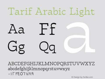 TarifArabic-Light Version 1.000;hotconv 1.0.109;makeotfexe 2.5.65596;YWFTv17图片样张