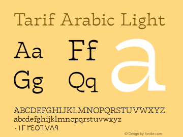 Tarif Arabic Light Version 1.000;hotconv 1.0.109;makeotfexe 2.5.65596;YWFTv17图片样张