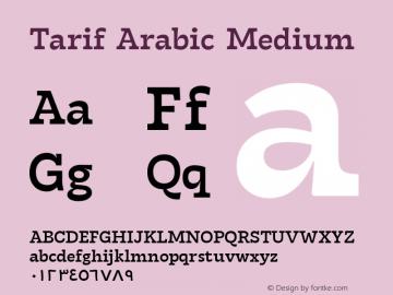 TarifArabic-Medium Version 1.000;hotconv 1.0.109;makeotfexe 2.5.65596;YWFTv17图片样张