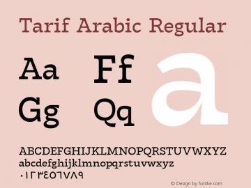 TarifArabic-Regular Version 1.000;hotconv 1.0.109;makeotfexe 2.5.65596;YWFTv17图片样张