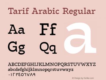 Tarif Arabic Regular Version 1.000;hotconv 1.0.109;makeotfexe 2.5.65596;YWFTv17图片样张