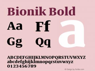 BionikBold Version 1.002;hotconv 1.0.109;makeotfexe 2.5.65596;YWFTv17图片样张