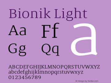 BionikLight Version 1.002;hotconv 1.0.109;makeotfexe 2.5.65596;YWFTv17图片样张