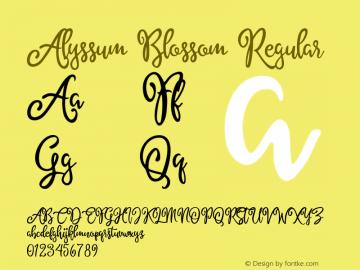 AlyssumBlossom Version 1.000;PS 001.001;hotconv 1.0.56图片样张