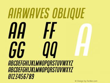 Airwaves Oblique Version 1.000图片样张