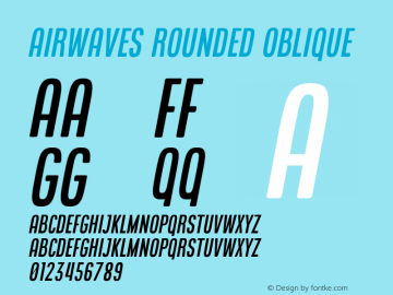 Airwaves Rounded Oblique Version 1.000图片样张