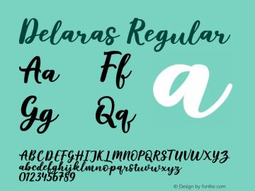 Delaras-Regular Version 1.000图片样张