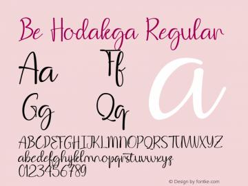 Be Hodakga Version 1.003;Fontself Maker 3.3.0图片样张