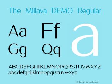 The Millava - DEMO Regular Version 1.000;PS 001.000;hotconv 1.0.88;makeotf.lib2.5.64775图片样张