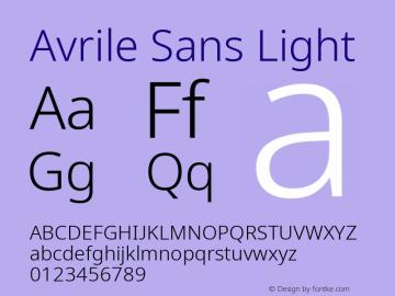 Avrile Sans Light Version 2.001;September 10, 2019;FontCreator 11.5.0.2425 64-bit图片样张