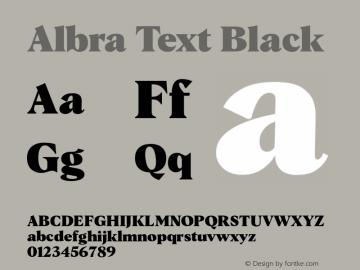 AlbraTextBlack 1.01;YWFTv17图片样张