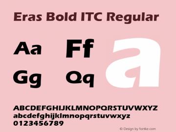 Eras Bold ITC Regular Version 1.00 Font Sample