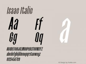 Isaac-Italic 0.1.0图片样张