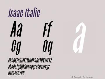 Isaac Italic 0.1.0图片样张