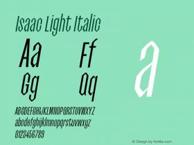 Isaac-LightItalic 0.1.0图片样张