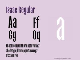 Isaac-Regular 0.1.0图片样张