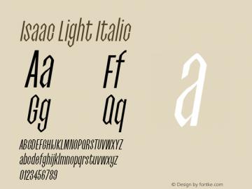 Isaac Light Italic 0.1.0图片样张