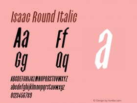 Isaac Italic Round 0.1.0图片样张