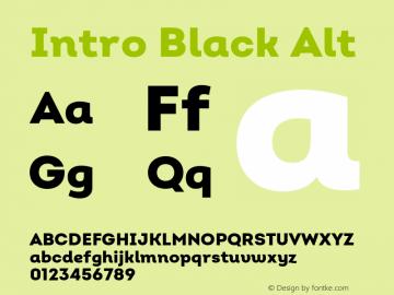 Intro Black Alt Version 2.000;hotconv 1.0.109;makeotfexe 2.5.65596图片样张
