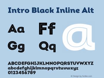 Intro Black Inline Alt Version 2.000;hotconv 1.0.109;makeotfexe 2.5.65596图片样张