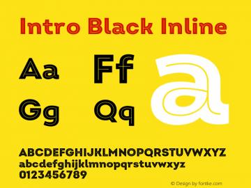 Intro Black Inline Version 2.000;hotconv 1.0.109;makeotfexe 2.5.65596图片样张