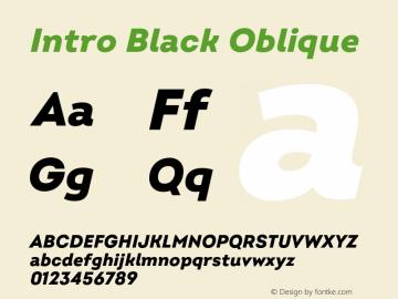Intro Black Oblique Version 2.000;hotconv 1.0.109;makeotfexe 2.5.65596图片样张