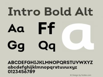 Intro Bold Alt Version 2.000;hotconv 1.0.109;makeotfexe 2.5.65596图片样张