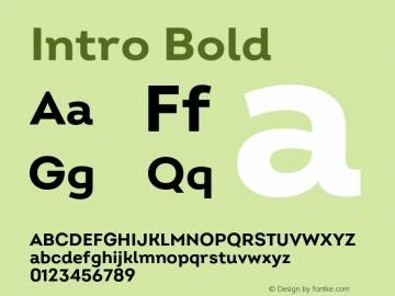 Intro Bold Version 2.000;hotconv 1.0.109;makeotfexe 2.5.65596图片样张
