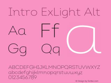 Intro ExLight Alt Version 2.000;hotconv 1.0.109;makeotfexe 2.5.65596图片样张
