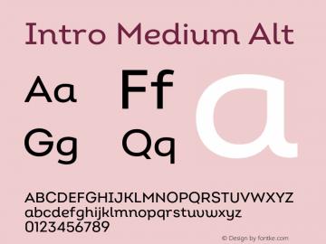 Intro Medium Alt Version 2.000;hotconv 1.0.109;makeotfexe 2.5.65596图片样张