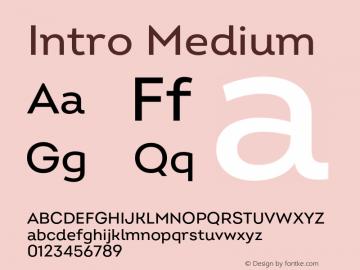 Intro Medium Version 2.000;hotconv 1.0.109;makeotfexe 2.5.65596图片样张