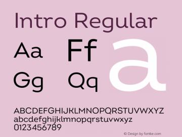 Intro Regular Version 2.000;hotconv 1.0.109;makeotfexe 2.5.65596图片样张