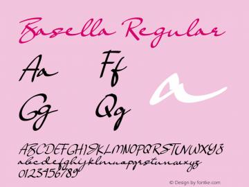 Basella Version 1.00;October 1, 2019;FontCreator 11.5.0.2430 32-bit图片样张