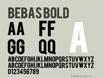 Bebas Bold Version 1.0 Extracted by ASV http://www.buraks.com/asv图片样张